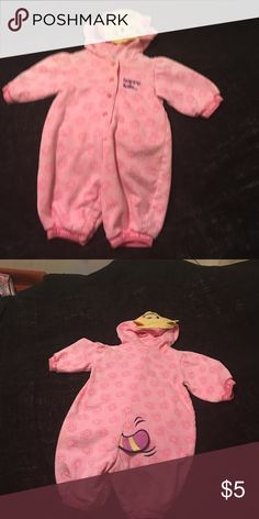 Infant girl sleeper Pink sleeper with are face and tail Joe Boxer One Pieces