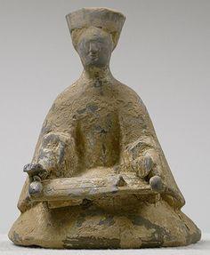 Se player, Han dynasty (206 B.C.–220 A.D.), 1st century B.C.–1st century A.D.  China  Pottery