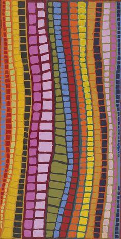 Brandy Tjungurrayi / Nyaru  2007  149×75 cm