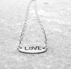 Simple Love Necklace, Sterling Silver $35