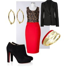 Business casual animal print, created by eschwartz9.polyvore.com