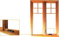 Fenêtre de bois à battant Martin
