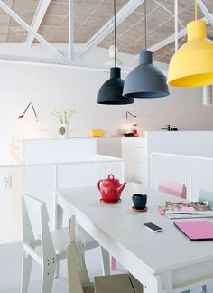 Add some colour with the Muuto Unfold Pendant Light…