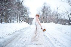 The Snowy Bride, AMBphoto, Anne-Marie Bouchard. Rivini by Rita Vinieris. Bride, Wedding Dresses, Winter, Snow, Inspiration, Fashion, Bridal Dresses, Biblical Inspiration, Moda
