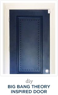 Big Bang Theory Door!! //.desertdomicile.com/2013/09/navy-big-bang -theory-inspired-door.html & DIY Big Bang Theory Inspired Door | Big bang theory Doors and Big