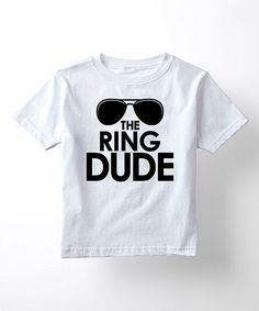 Take a look at this LC Trendz White 'The Ring Dude' Sunglasses Tee - Toddler & Boys today!