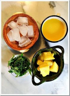 Agua Fresca made with Pineapple, Orange & Chaya | Ingredients