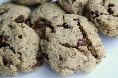 The Healthy Happy Wife: Chocolate Chip Cookies (Dairy, Egg, Gluten and Refined Sugar Free)
