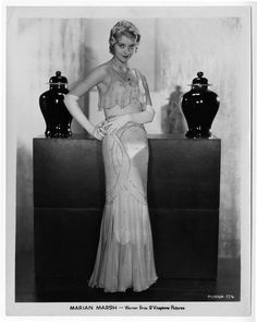 Marian Marsh Vintage 1930s Exquisite Art Deco Glamour Photograph Stunning Gown