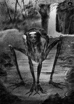 Creepy Drawings, Dark Art Drawings, Horror Drawing, Horror Art, Creepy Images, Dark Fairytale, Satanic Art, Francisco Goya, Macabre Art