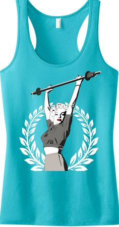Yes, #MarilynMonroe Lifted! Classy #Workout Tank Top from #NobullWomanApparel. $24.99 on Etsy. Great for running errands. Click here to buy  www.etsy.com/listing/163540299/marilyn-monroe-lifting-workout-tank-top?ref=shop_home_active