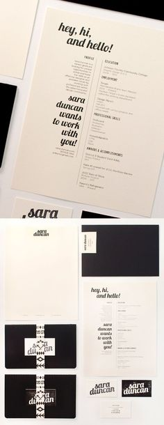 this is an exact rip off of Sara's business cards and my resume whoa! are there no new ideas?