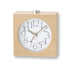 """AY Alarm Clock in White Wood AlarmClock 2"""" x 4"""" x 2"""" White  Made in Japan. Please allow 4-8 weeks to ship out and receive tracking. Contact us to see about ex"""