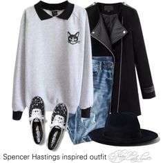 Spencer Hastings inspired outfit/PLL by tvdsarahmichele on Polyvore featuring Chicnova Fashion, J.Crew, Keds and Yang Li