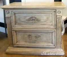 These great night-stands painted ASCP Old White with clear and dark wax