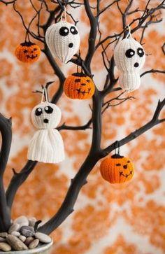 Cute Crochet Halloween Ornaments | AllFreeHolidayCrafts.com