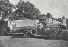 Hurley's Butcher delivery vehicle, Springwood NSW