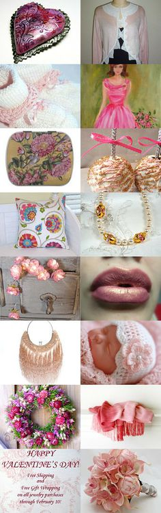 Girly Valentine's Day by Deb Lonergan on Etsy--Pinned with TreasuryPin.com