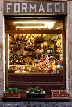 Storefront- Formaggi Cheese store in Rome, Italy