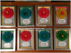 Cotton Paper Dahlias, video