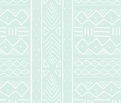 Mudcloth_in_white_on_mint_shop_preview