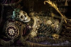 Beauty of Death Part II by Christian Boss on Skeleton Dress, The Catacombs, Macabre Art, Memento Mori, Sacred Heart, Medieval, Eye Candy, Saints, Death