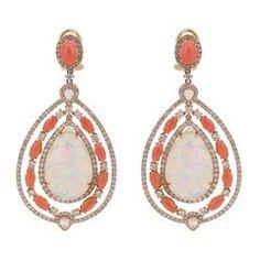 Etiopské korálové diamantové drahokamy Opal