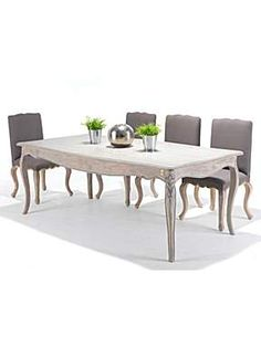 Weathered Grey Oak Dining Table Set with 6 Chairs Oak Dining Sets, Dining Room Furniture Sets, Oak Dining Table, Dining Room Sets, Weathered Furniture, Grey Oak, House Of Fraser, Table And Chair Sets, Furniture Collection