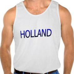 Hemd met Holland en nummer 1 in Hollands blauw. Beschikbaar in diverse maten, soorten shirts en kleuren voor zowel dames, heren en kinderen.