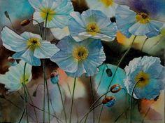 Iceland in Blue, watercolor, Svetlana Orinko Watercolor Flowers, Watercolor Paintings, Watercolour, Watercolor Techniques, Flower Art, Art Flowers, Abstract Pattern, Art Day, Insta Art