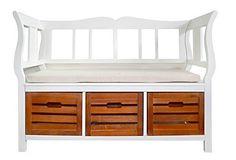 Panca panchina cassettiera con poggiaschiena e morbida seduta design moderno…