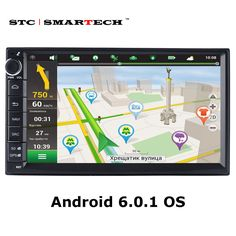 SMARTECH Car Car Multimedia Player 2 din 7inch 1024*600 Quad Core Android 6.0.1 Car Stereo Radio GPS naviagtion Bluetooth Wifi