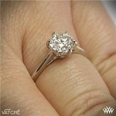 """Classic style awaits you with the """"Felicity"""" Solitaire Engagement Ring by Vatche. Part of our Serenity Collection, this exquisite design combines smooth, flowin Engagement Frames, Engagement Quotes, Rose Gold Engagement Ring, Solitaire Engagement, Solitaire Ring, Beautiful Rings, Jewelry Box, Jewellery, Wedding Bands"""