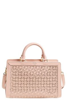 Tory Burch 'Fret-T' Perforated Satchel available at #Nordstrom