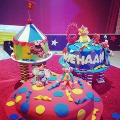 Carnival themed birthday cake