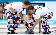 Norwegian Curling Team 2014 | Norway's curling team makes a splash with crazy pants - Feb. 11, 2014