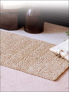Reversible Accent Rug free knitting patterns for rugs