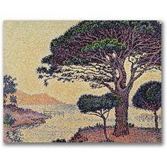 Trademark Fine Art Umbrella Pines at Caroubier Canvas Art by Paul Signac, Size: 24 x 32, Multicolor