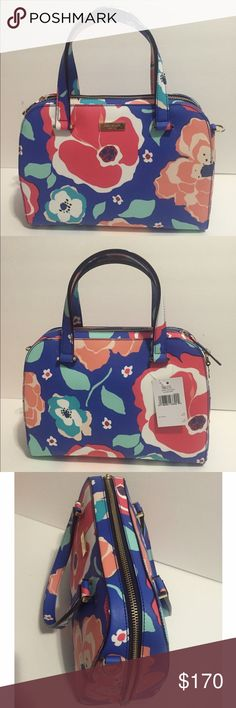 """Kate Spade Small Felix Newbury Lane Printed Kate Spade Small Felix Newbury Lane Printed • Color: Cherryfloral • Material: pvc leather • Measurment: 8x11.5x5 • Brand new. Never used • Tag and care card are included • No trade No hold • Plz use OFFER button for reasonable offers. I said """"YES"""" most of the time. kate spade Bags Satchels"""