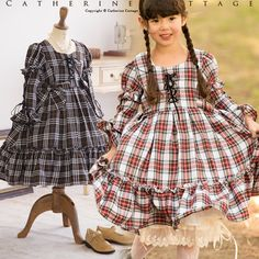 f4ecd3cbda3d2 子供ドレス 発表会 2WAYチェック編上げワンピース 半袖長袖両用 子供服 フォーマル キッズ こども