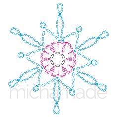 Best 10 Ela Klementowicz's media content and analytics – SkillOfKing.Com Crochet Instructions, Crochet Diagram, Crochet Motif, Crochet Doilies, Crochet Flowers, Crochet Stitches, Crochet Snowflake Pattern, Crochet Stars, Crochet Snowflakes
