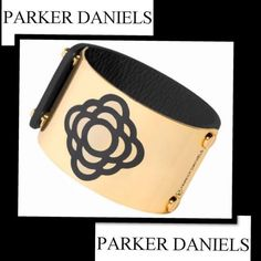 Parker Daniels CuffSALE Authentic Parker Daniels Flower Cuff  This Modernist cuff speaks for itself. It's sophisticated, bold & flirty at the same time It's great to dress up or down. Perfect addition to your everyday wardrobe Genuine leather, gold plated sculptured metal band & matching enameled signature Parker Daniels design Box included. Sorry no PayPal holds or trades Save up to 50% off on bundles In both of my Posh closets Thank you for shopping Demitria's Treasures Last sales price…