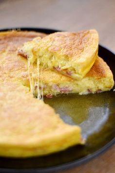 Quiche lorraine façon gâteau magique : Recette de Quiche lorraine façon gâteau magique - Marmiton #marmiton #recette #quiche #lorraine #magique #recette