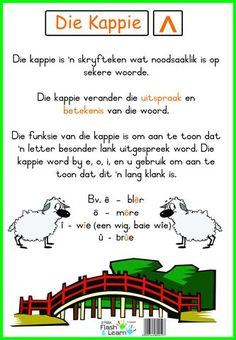Die Kappie Preschool Learning, Fun Learning, 2nd Grade Spelling Words, Afrikaans Language, Afrikaanse Quotes, Abc For Kids, Letter Activities, English Language Learning, Writing Words