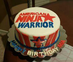 American ninja warrior cake.