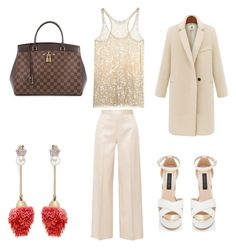 """""""Untitled #1918"""" by elsie-jones ❤ liked on Polyvore featuring Venna, The Row, KAROLINA and Louis Vuitton"""