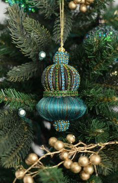 Tassel Ornament Peacock 4.5in