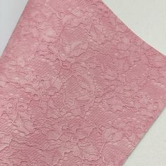 Pink Lace Textured Faux Leather Faux Leather Fabric, Pink Lace, White Cotton, Cotton Canvas, Craft Projects, Bows, Texture, Crafts, Color