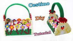 Cestino Pasquale Con Hama Beads / Pyssla   Perler Beads Easter Basket Tu...