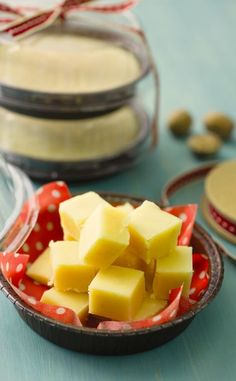 Eggnog Fudge - This fudge is rich and creamy with an eggnog kick. It's easily transportable and makes a perfect gift.